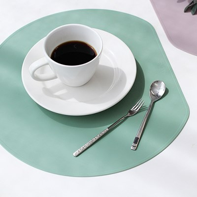 파스텔 실리콘 반원테이블매트-5color