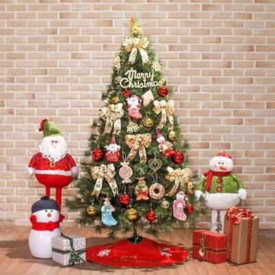 180cm 산타선물 리얼솔잎 풀세트트리/크리스마스장식
