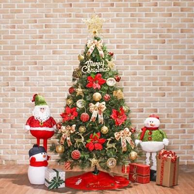 180cm 샤인비즈 리얼솔잎 풀세트트리/크리스마스트리