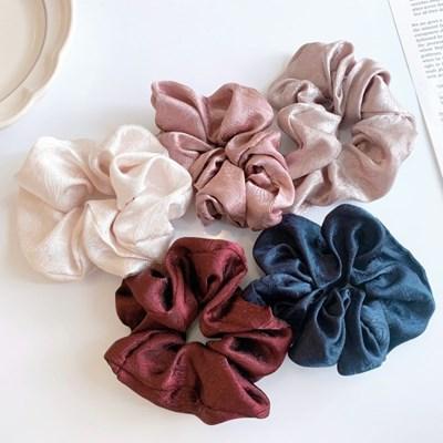 [1+1] [5color] 오리엔탈 실크 한국 전통 문양 스크런치 곱창 머리끈