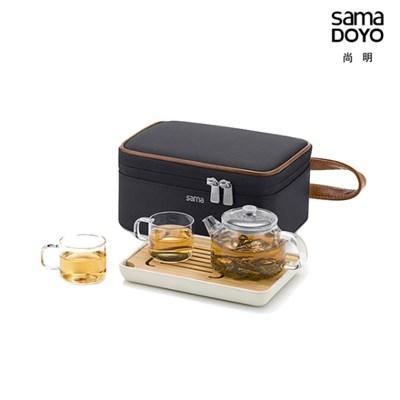 사마글라스 휴대용 티포트 티세트 (2인용) L0