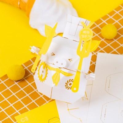 [로보트리] 움직이는 종이로봇 로빗 '요리사 쉐푸(로얄버전)'
