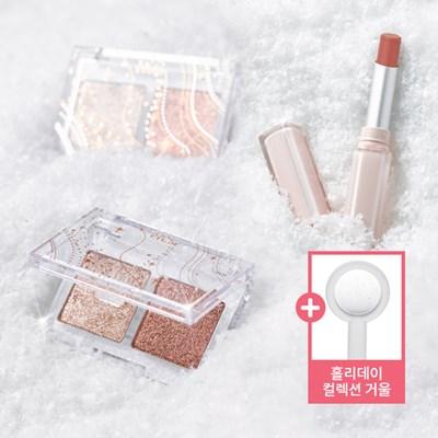[에뛰드] 글리터리 스노우 기획세트 [ 아이팔레트 + 립스틱 ]