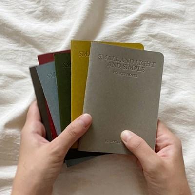 pocket notes(6color) 포켓노트 라인노트 줄노트