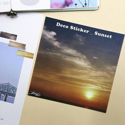 [제미포티] 데코 칼선 스티커 _ Sunset