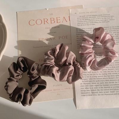 [3개세트][3color] 데일리 베이직 스크런치 곱창 머리끈