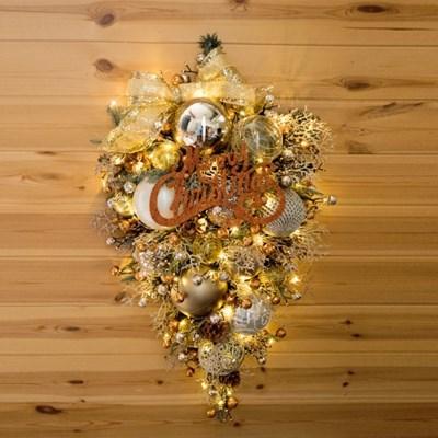 앙드골든벽걸이트리 75cmP 크리스마스 장식 TRHMES