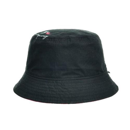 JCU41.키스해링 프린트 양면 벙거지 모자 체크 버킷햇