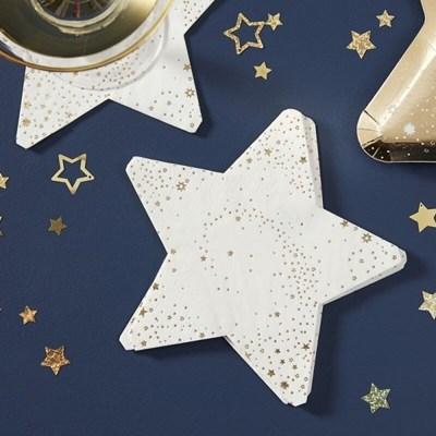 [빛나파티]골드 별모양 별무늬 장식용 파티냅킨 Star Gold Paper Nap