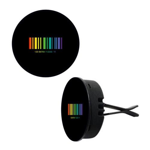 토디토 자동차디퓨저-바코드 블랙&레인보우(원형)