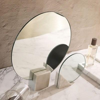 마블 탁상거울 대리석 골드 고급 호텔 부티크 인테리어소품 원형거울
