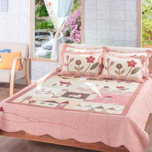 마이홈 워싱 면 카페트 패드 스프레드 160x210 핑크
