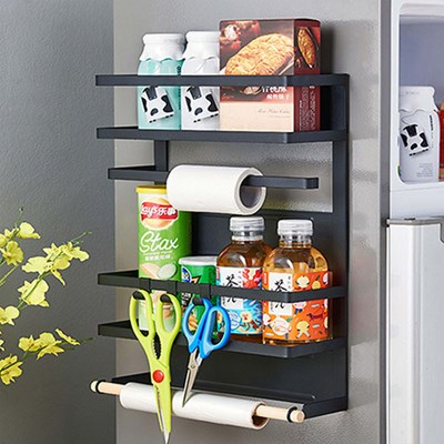 FT 냉장고 옆면 보관함 블랙 대형 사이드 주방정리