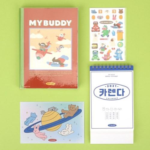 [10x10 단독구성] 마이 버디 만년형 & 미니 캘린더 세트 01-03