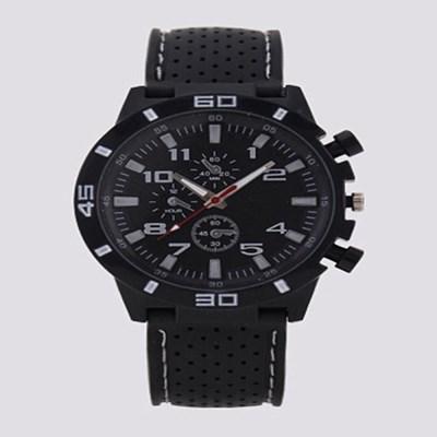 남성 아날로그 PINBO Black 손목시계 M0668