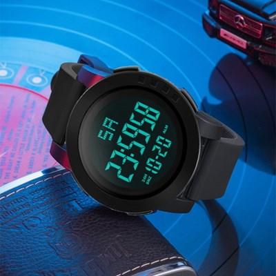 남성 디지털 HONHX Black 스포츠 손목시계 5004-653