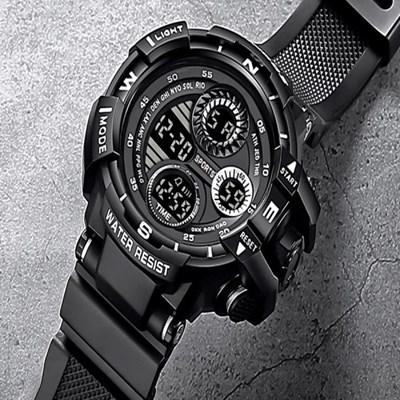 남성 디지털 ASVINDA Black 스포츠 손목시계 C00B0S