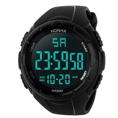 스포츠 워치 남성 디지털 HONHX Black 손목시계 WR30