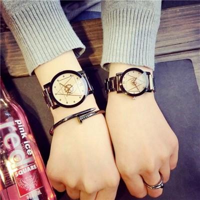 남녀공용 아날로그 LINGGE Brown 손목시계 MW01
