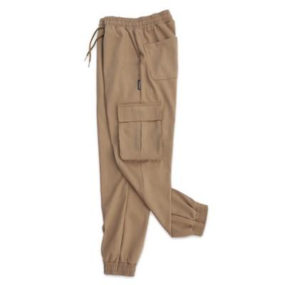 (UNISEX) M Soft Royal Cargo-Jogger Pants(BEIGE)