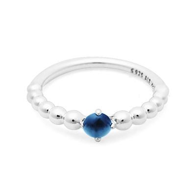 판도라 반지 198867C12 씨 블루 9월 신신탄생석 반지