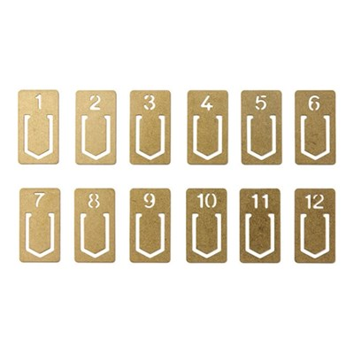 BRASS PRODUCTS - Number Clips
