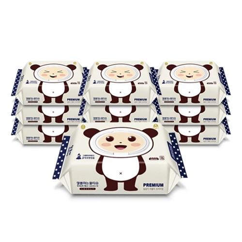 달곰이 러블리 프리미엄 엠보싱 캡형(72매) 10팩