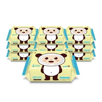 달곰이 패밀리 프리미엄 엠보싱 캡형(80매) 10팩