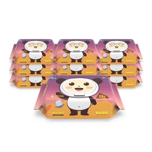 달곰이 러블리 베이직 엠보싱 캡형(72매) 10팩