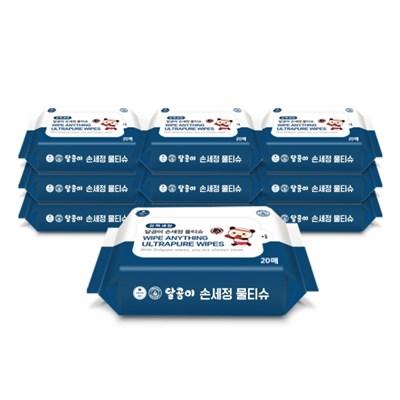 달곰이 손세정 물티슈 휴대 리필(20매) 10팩