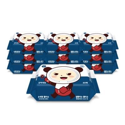 달곰이 손세정 물티슈 캡형(80매) 10팩