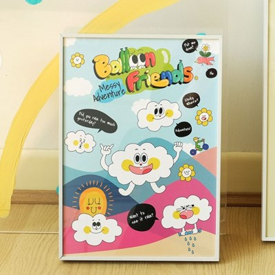 벌룬프렌즈 A3 포스터 - 구름친구들 클로디