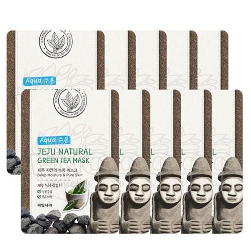 과일나라 제주자연의 녹차 마스크 10매