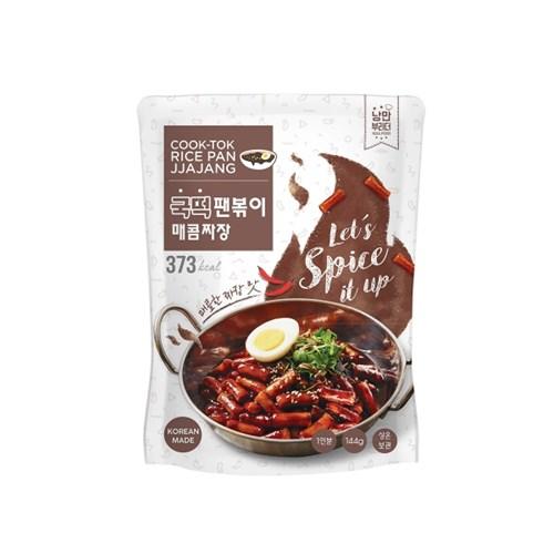 > [추억의 국민학교 떡볶이] 국떡 팬볶이 매콤짜장 144g