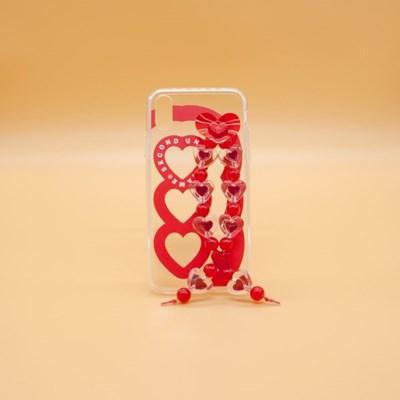 SUN CASE HEART BUBBLE RED