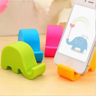 다용도 코끼리모양 핸드폰 거치대 1개(색상랜덤)