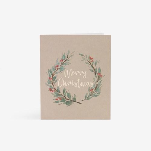 크리스마스 리스 카드