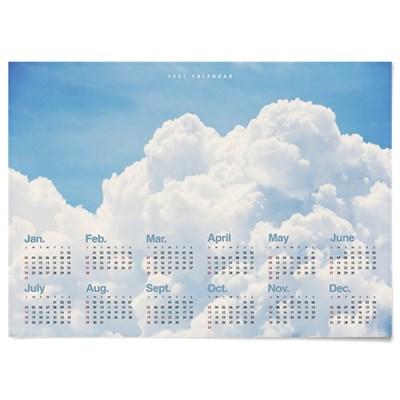 2021 패브릭 천 모던 달력 포스터 풍경 사진 뭉게 구름