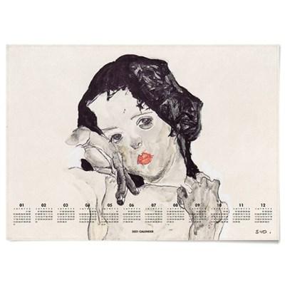 2021 패브릭 천 달력 일러스트 포스터 에곤 쉴레 3