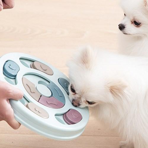 반려동물 먹이 퍼즐 토이 1개(색상랜덤)