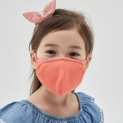 에이퓨리 에어라이트 항균 면마스크 아동 피치