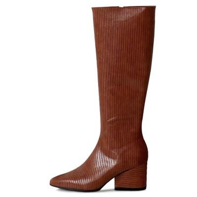kami et muse Chunky heel stripe long boots_KM20w160