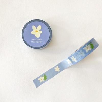 White flower masking tape
