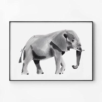 메탈 동물 그림 아이방 일러스트 행운 액자 코끼리 수채화
