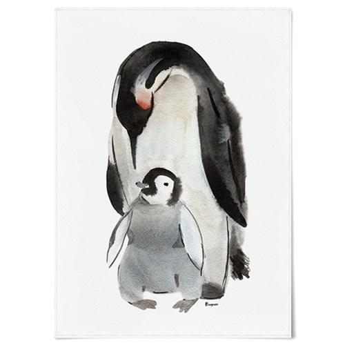 패브릭 포스터 F064 동물 겨울 그림 액자 펭귄 수채화