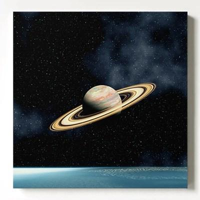 캔버스 아트 모던 인테리어 우주 액자 토성과 은하수