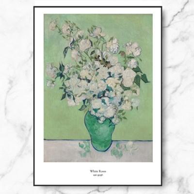 인테리어 액자 반 고흐 장미가 든 꽃병 White Roses_(2545582)