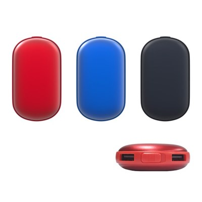 USB충전 휴대용 대용량 손난로 겸 보조배터리 7500mAh
