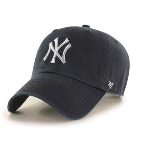 47브랜드 MLB모자 양키즈 블랙 그레이메탈빅로고