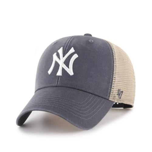 47브랜드 MLB모자 양키즈 네이비빈티지메쉬 화이트빅로고 스트럭처